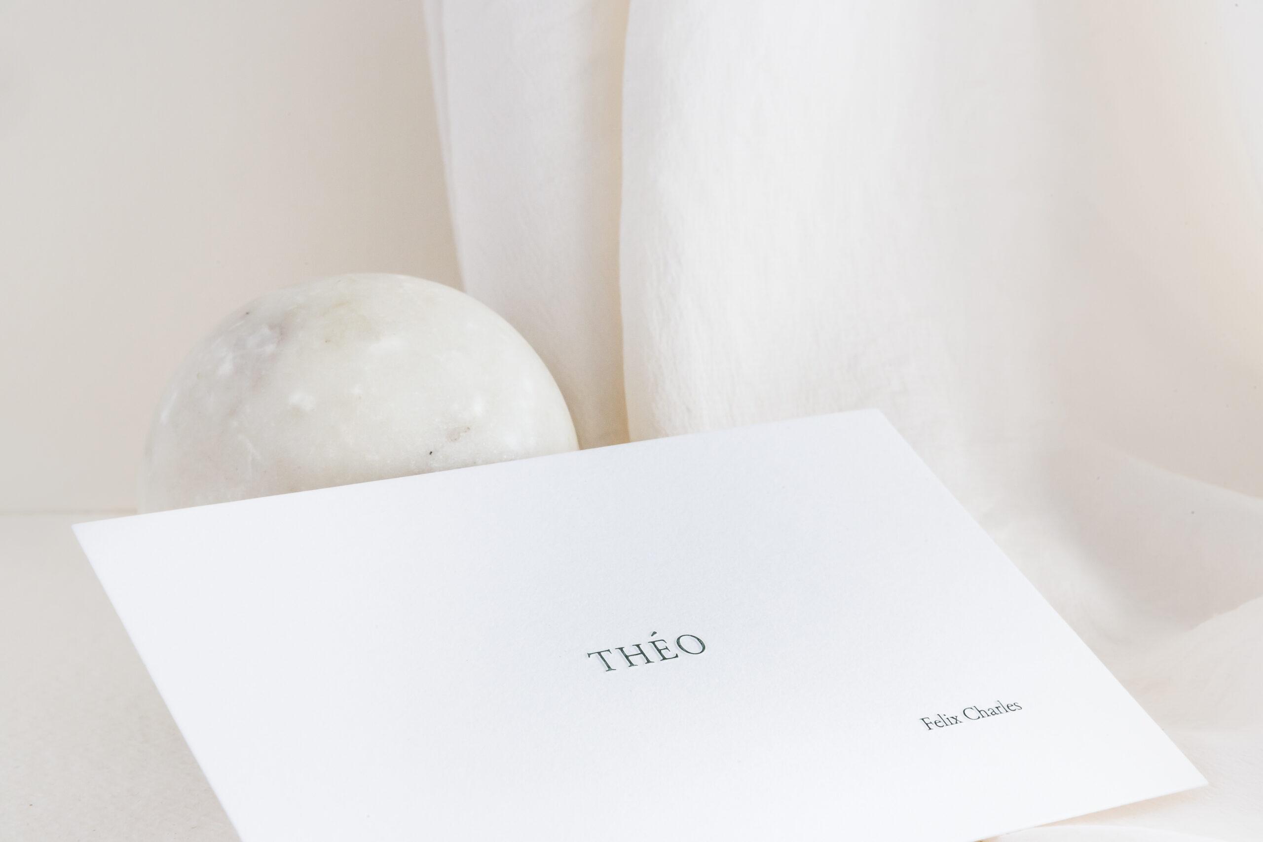 Ontwerp geboortekaartje Théo